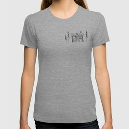 Home Sweet Home Cabin Pen and Ink Illustration T-shirt