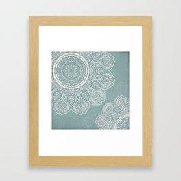 Mandala of Blue Dreams Framed Art Print