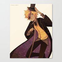 bill cipher Canvas Prints featuring bill cipher by Sunny