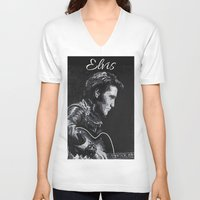 elvis V-neck T-shirts featuring Elvis by JeleataNicole