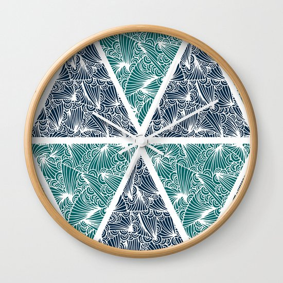 Geometric Paradise Wall Clock