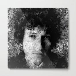 BOB DYLAN (BLACK & WHITE VERSION) Metal Print
