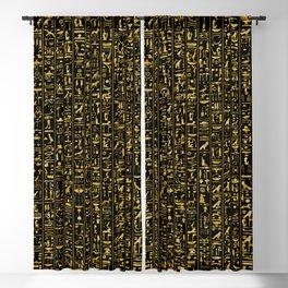 Hieroglyphics GOLD Blackout Curtain