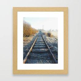 On the right track Framed Art Print