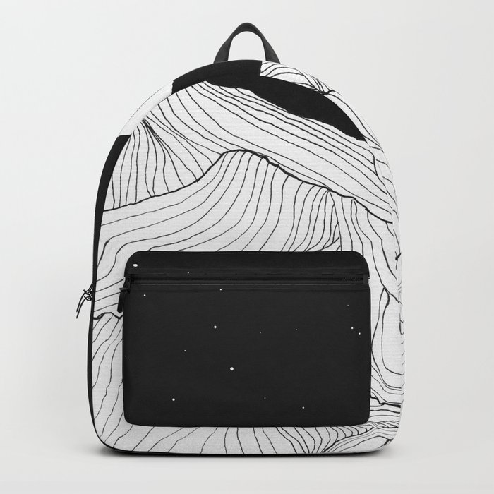 Lines in the mountains II Backpack