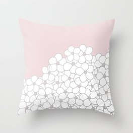 Forget Me Knot Pink Boarder Throw Pillow