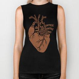 Coffee Lover Heart Biker Tank