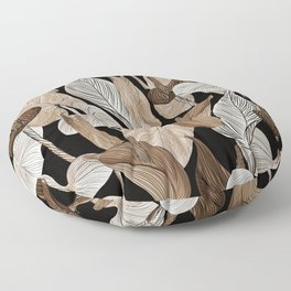 Lush lily - russet Floor Pillow