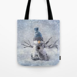 Cute snowman frozen freeze Tote Bag