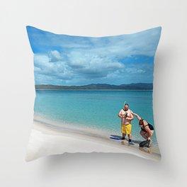 Whiteheaven Beach - Botero Throw Pillow