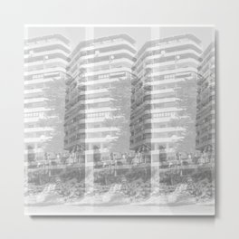 Patterns, Concrete Building on the Beach, Southern Spain Metal Print