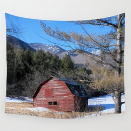 Deserted Barn in the Adirondacks Wall Tapestry