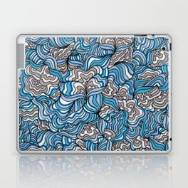 Gray Day with Blue Feelings Laptop & iPad Skin