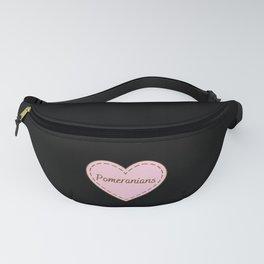 I Love Pomeranians Simple Heart Design Fanny Pack