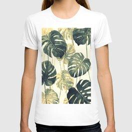 Green Tropical Leaves T-shirt