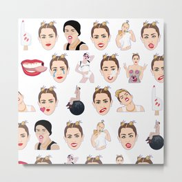Having A Miley Moment Metal Print