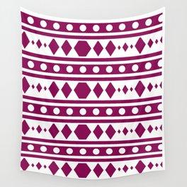Marsala Tribal Pattern Wall Tapestry