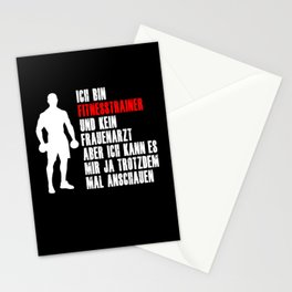 Fitness Instructor Trainer Gym Funny Saying Shirt Stationery Cards