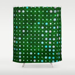 led green Shower Curtain