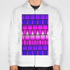 Pink and Blue Offset Tiles Pattern Hoody