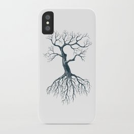 Tree without leaves iPhone Case