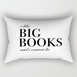 I like big books Rectangular Pillow