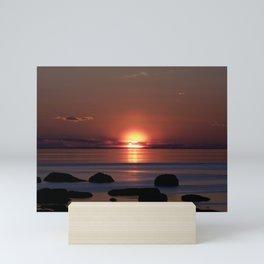 Shock-wave Sunset Mini Art Print