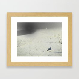 On The Beach, Winter Framed Art Print