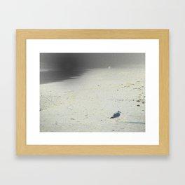 On The Beach, Winter Framed Art Print