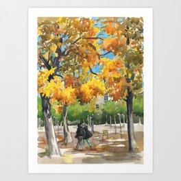 My favorite garden Art Print