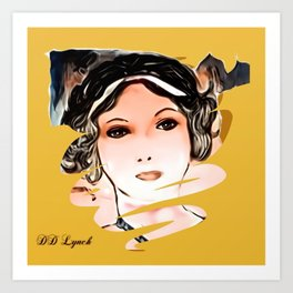 A Face From The 1920s Art Print