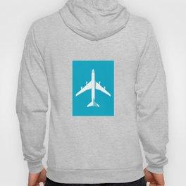 747-400 Jumbo Jet Airliner Aircraft - Cyan Hoody