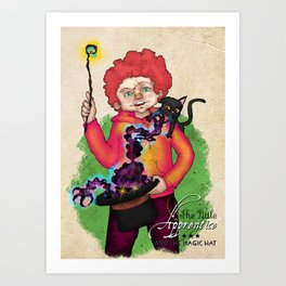 The Little Apprentice and the Magic Hat Art Print