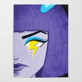 Lightning Eye Girl Silent Rage Poster