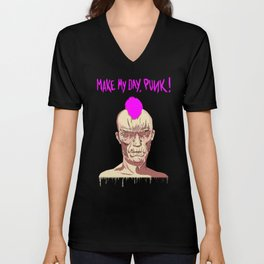 MAKE MY DAY, PUNK ! // Terreur Graphique Unisex V-Neck