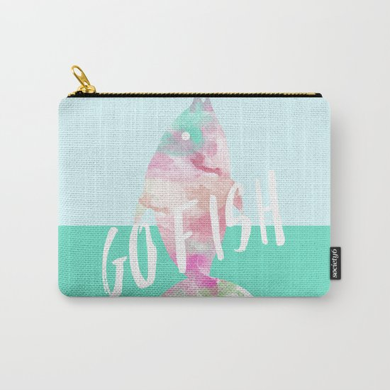Go Fish With Quote #society6 Carry-All Pouch