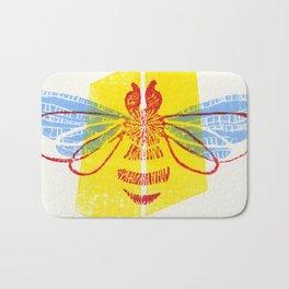 Be Safe - Save Bees linocut Bath Mat