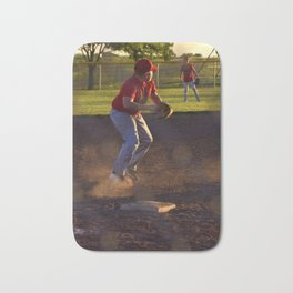 Baseball Action Bath Mat