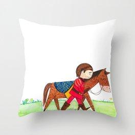 Sad Prince Throw Pillow