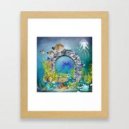 Unterwasserlandschaft Framed Art Print