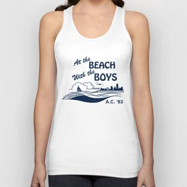 At the Beach with the Boys Unisex Tank Top