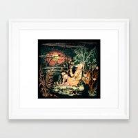 hunting Framed Art Prints featuring hunting by KrisLeov