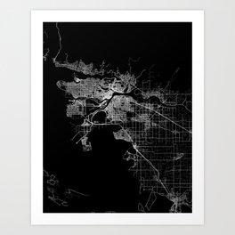 vancouver map canada Art Print