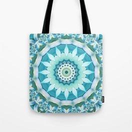 Aquamarine Mandala Tote Bag