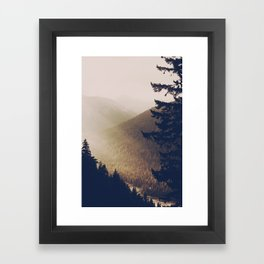 Sunrise in the Mountains  Framed Art Print
