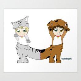 Cat-Dog Art Print