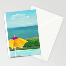 Pool relaxation in Nevis Stationery Cards
