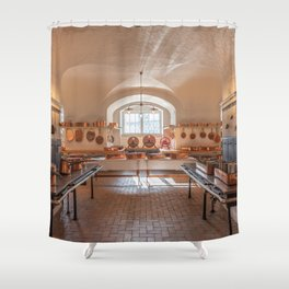 Antique kitchen for professional use Shower Curtain