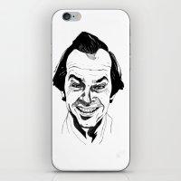 jack nicholson iPhone & iPod Skins featuring Jack Nicholson by Giorgia Ruggeri