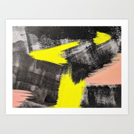 Electric Lime Abstract Art Print